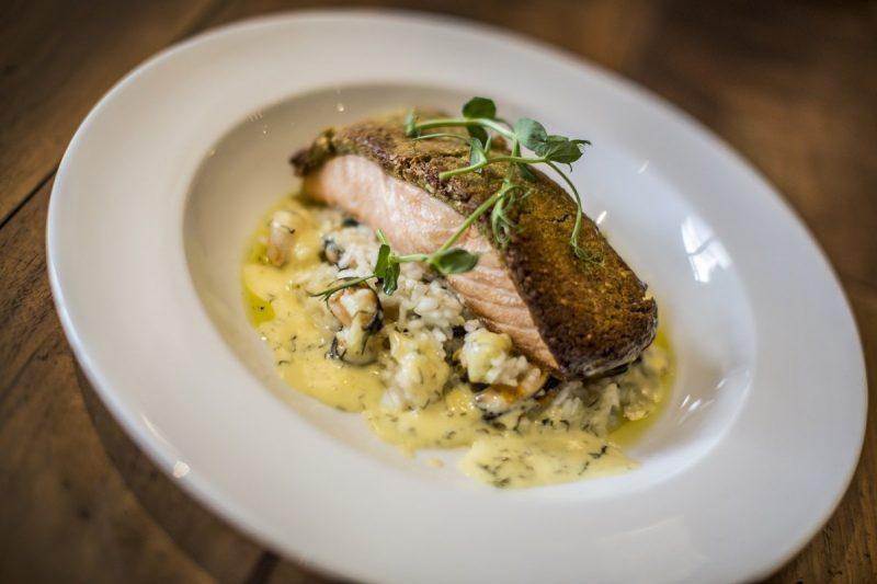 Salmon Food Dish At Slaley Hall