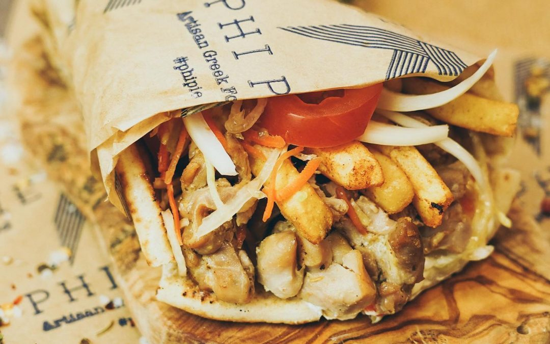 Food Market: Greek Food by Phi Pie, Newcastle